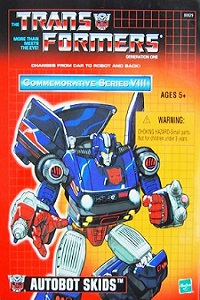 Transformers G1 Commemorative Series VIII Autobot Skids