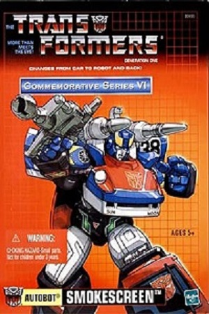 Smokescreen transforms into a Datsun 280ZX Turbo which is also the standard body adopted by both Bluestreak and Prowl.
