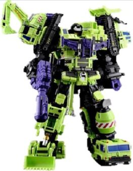 Transformers MT Maketoys Giant Type-61 Green Devastator Full Set